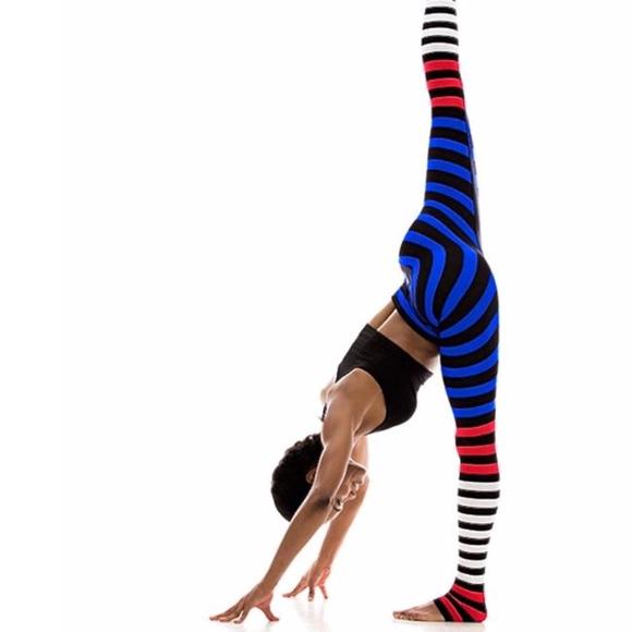 f05eefe9c3 am vibe Pants | Striped Red White Blue Yoga Pant Leggings Nwt | Poshmark